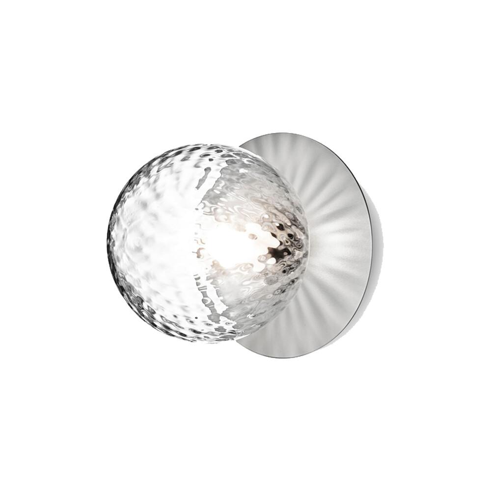 Liila 1 Væglampe/Loftlampe Light Silver/Optic Clear - Nuura thumbnail