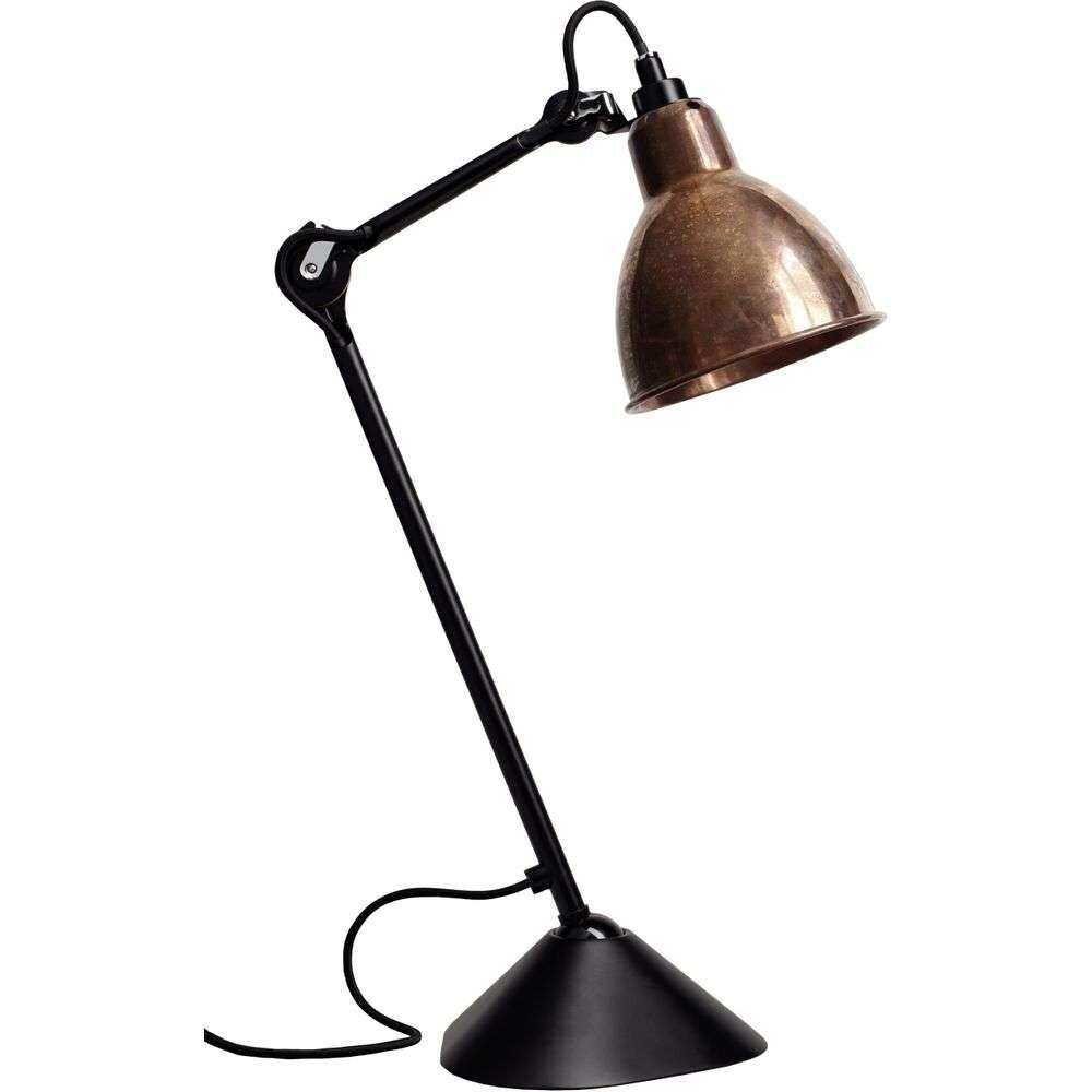 205 Bordlampe Sort/Rå Kobber/Hvid - Lampe Gras thumbnail