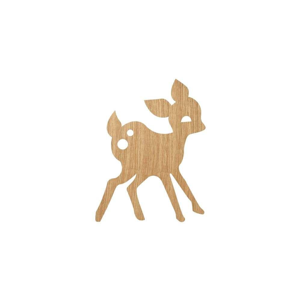Image of My Deer Væglampe Oiled Oak - Ferm Living (15990643)