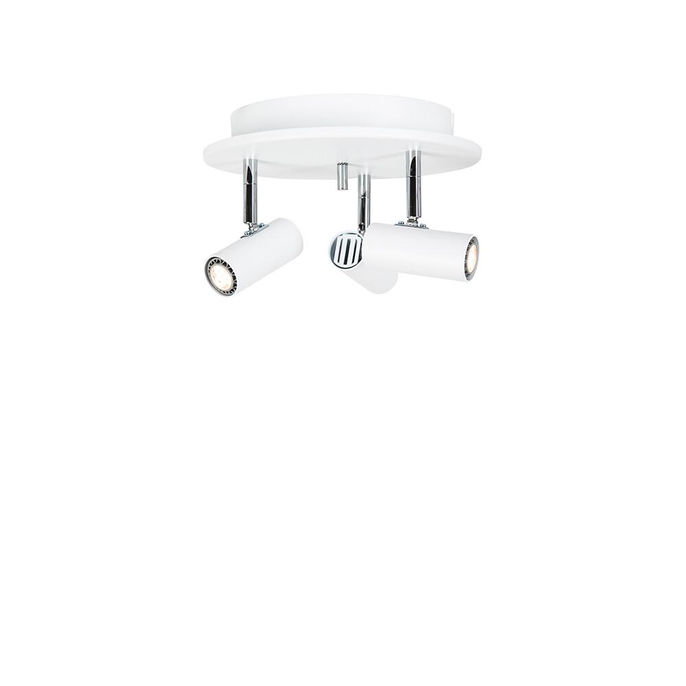 Cato Triospot Mat Hvid LED Dæmpbar – Belid