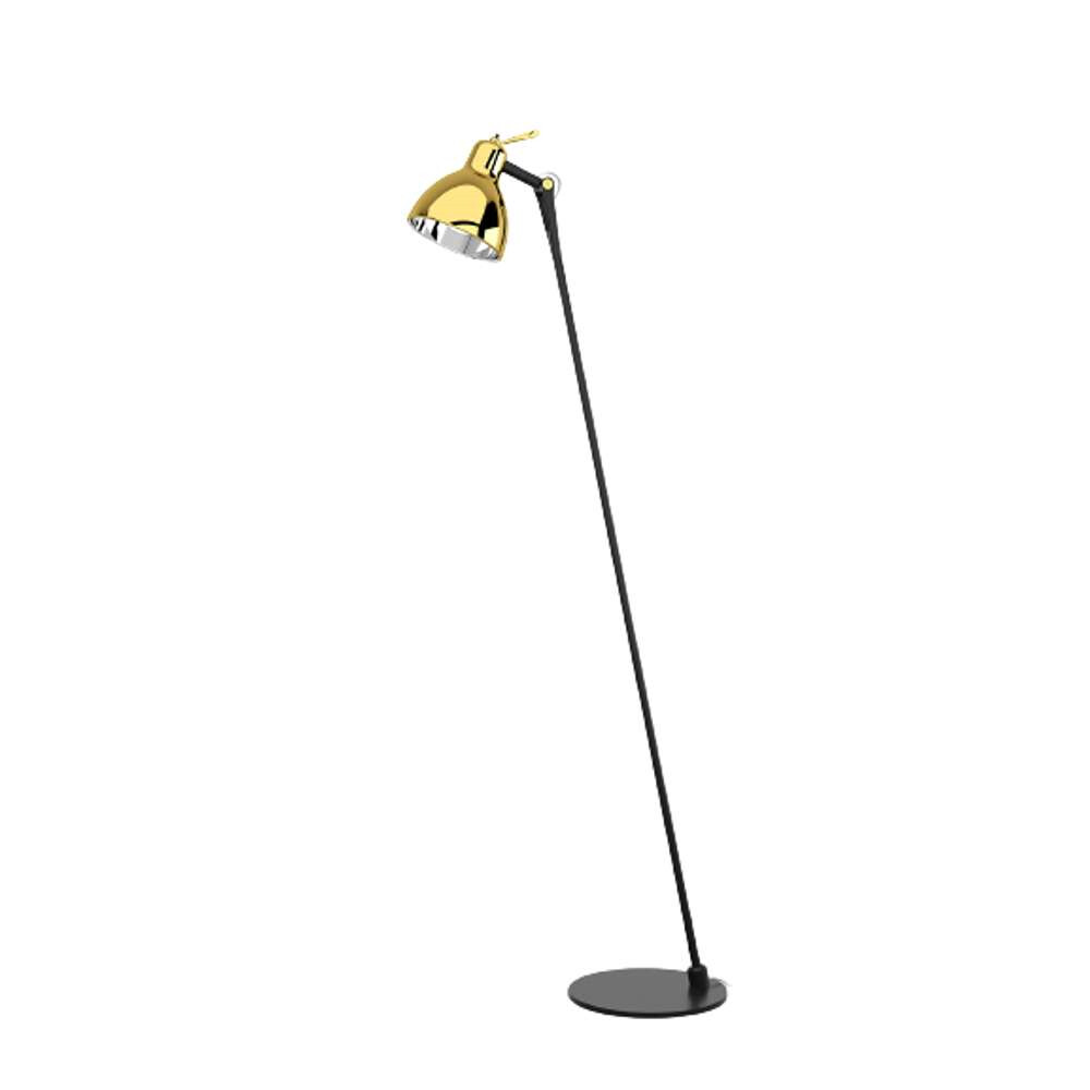 Luxy Glam F0 Gulvlampe Black/Gold Semi Transparent - Rotaliana thumbnail