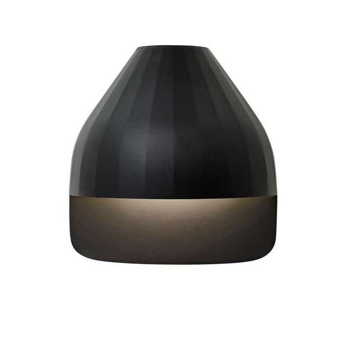 Facet Udendørs Væglampe m/Small Baseplade Sort - Le Klint