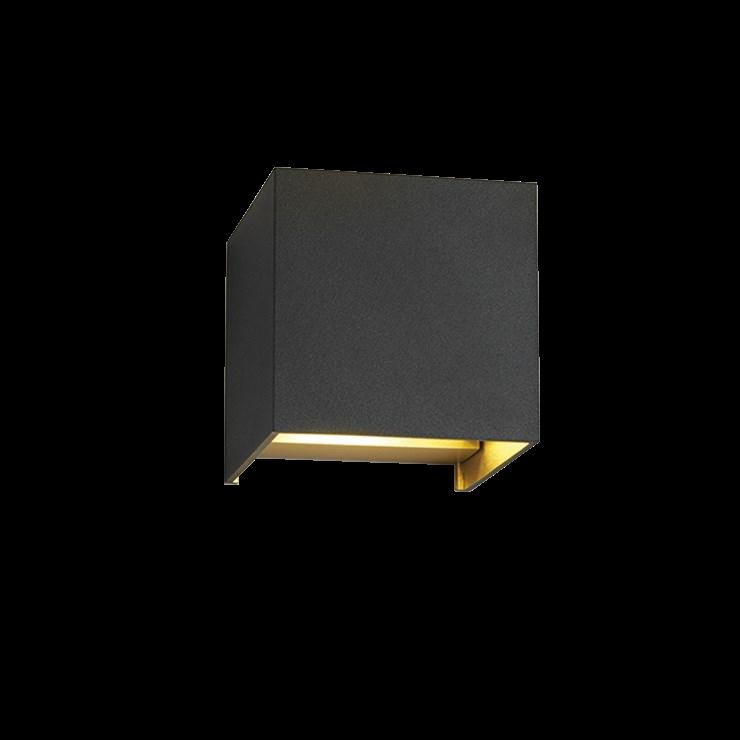 Box Up/Down LED 3000K Væglampe Sort/Guld – LIGHT-POINT