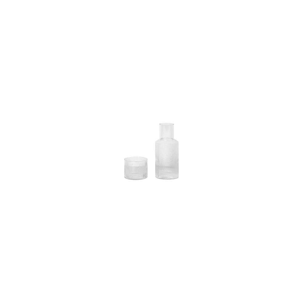 Image of Ripple Carafe Set Small Clear - Ferm Living (16161533)