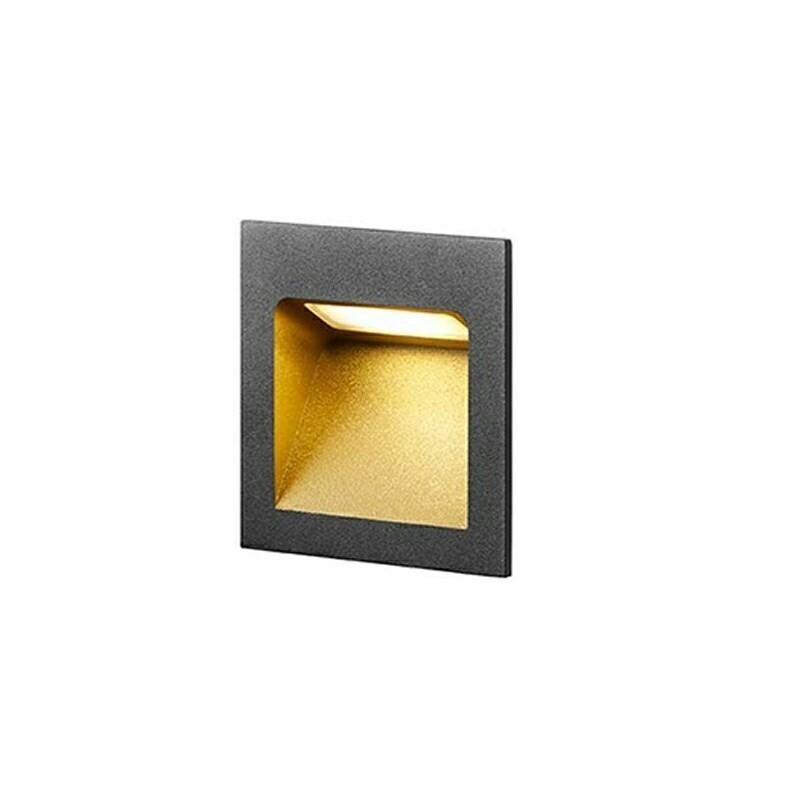Deli 1 LED 3000K Væglampe Sort/Guld – LIGHT-POINT