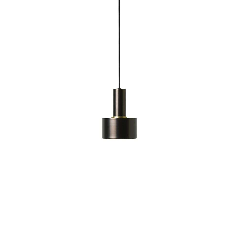 Image of Collect Pendel Disc Low Black Brass - Ferm Living (15998619)