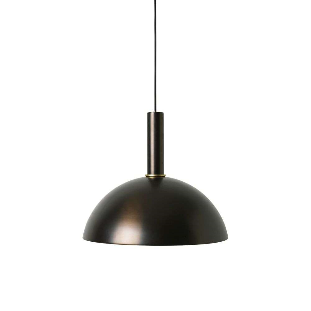 Image of Collect Pendel Dome High Black Brass - Ferm Living (15998563)