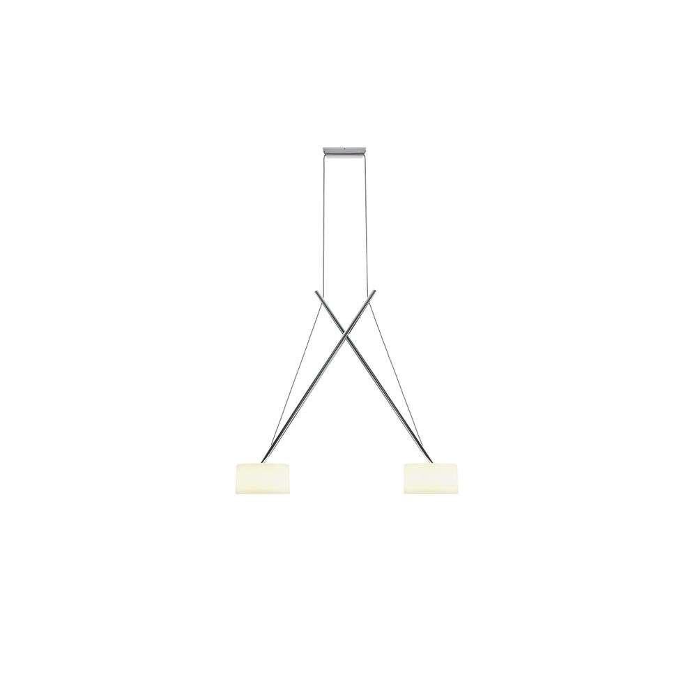 Twin LED Pendel Chrome/Glass – Serien Lighting