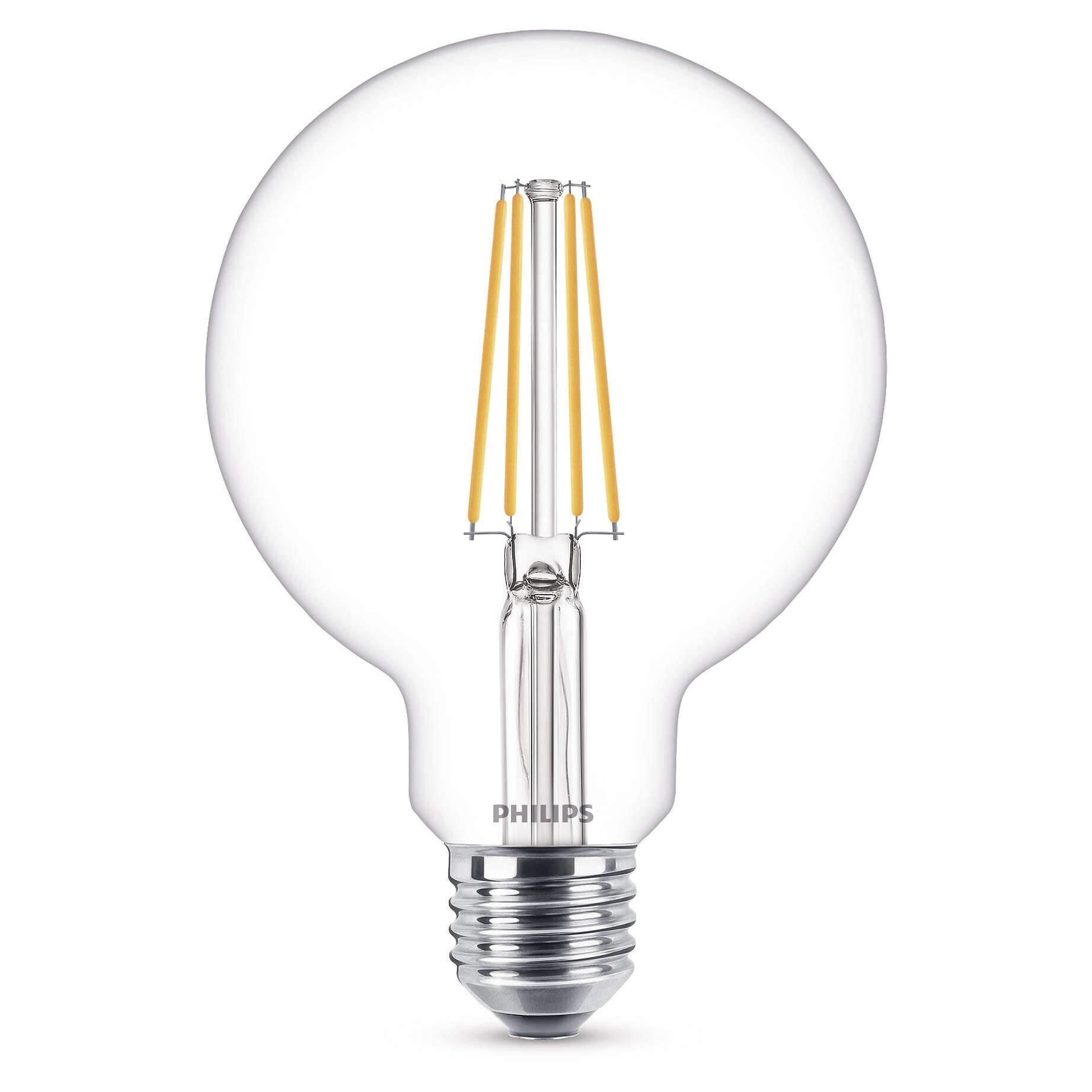 Pære LED 7W (806lm) Filament Globe Ø93 E27 - Philips thumbnail