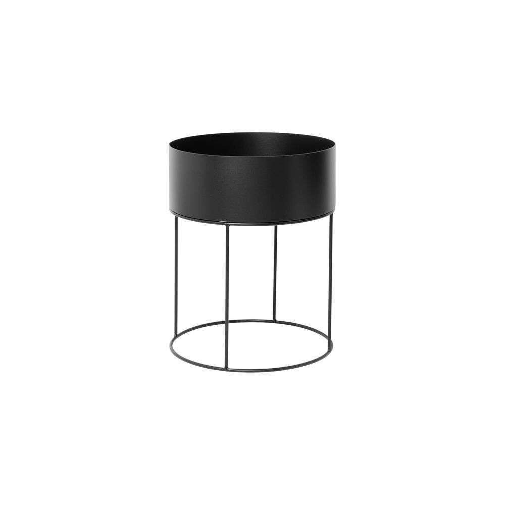 Image of Plant Box Black Round - Ferm Living (16085602)