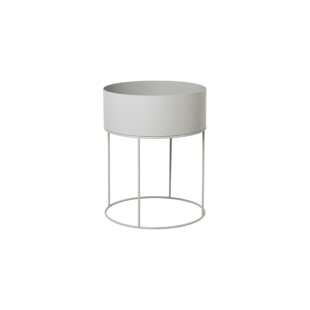 Image of Plant Box Light Grey Round - Ferm Living (16085627)