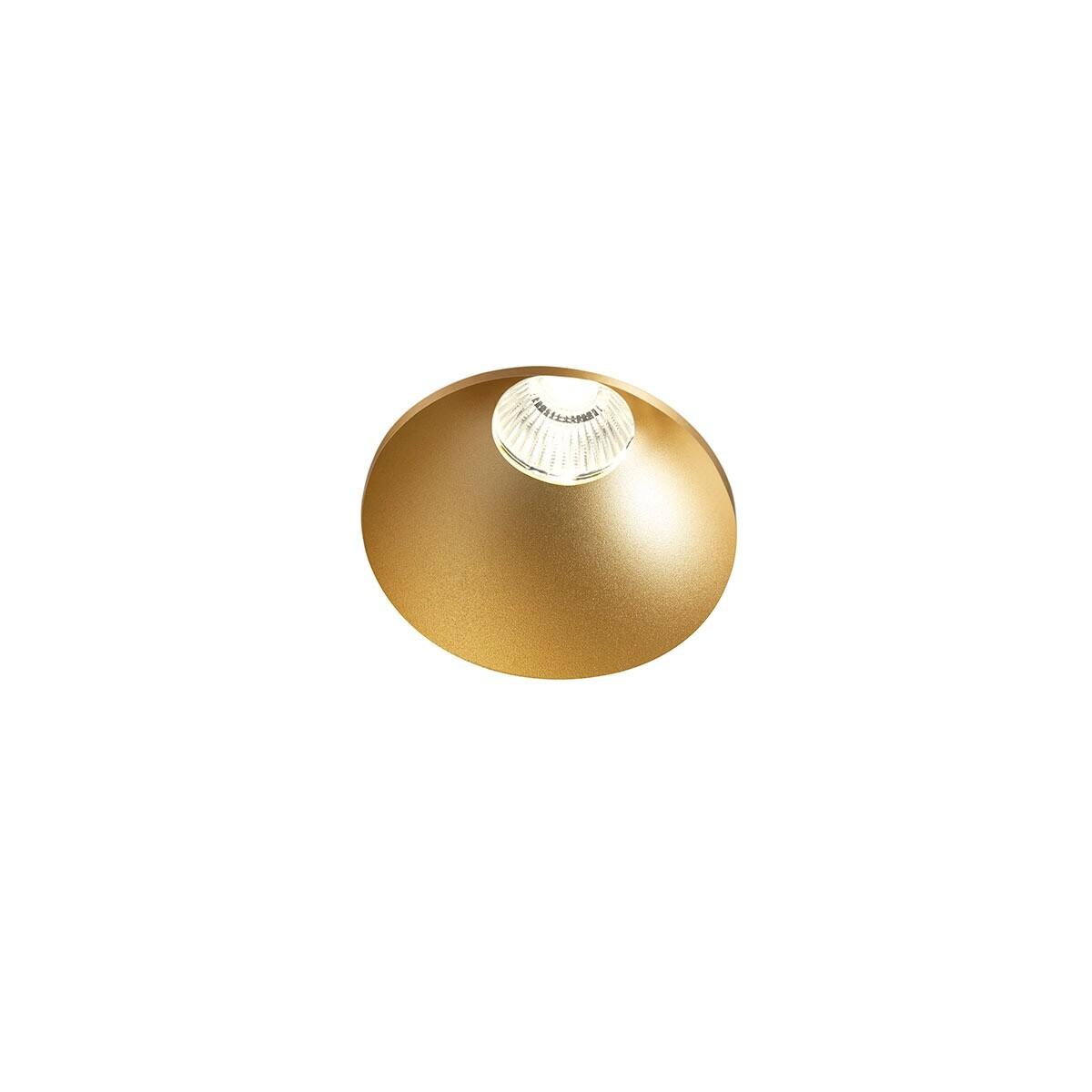 Curve Round Trimless Loftlampe Guld – LIGHT-POINT