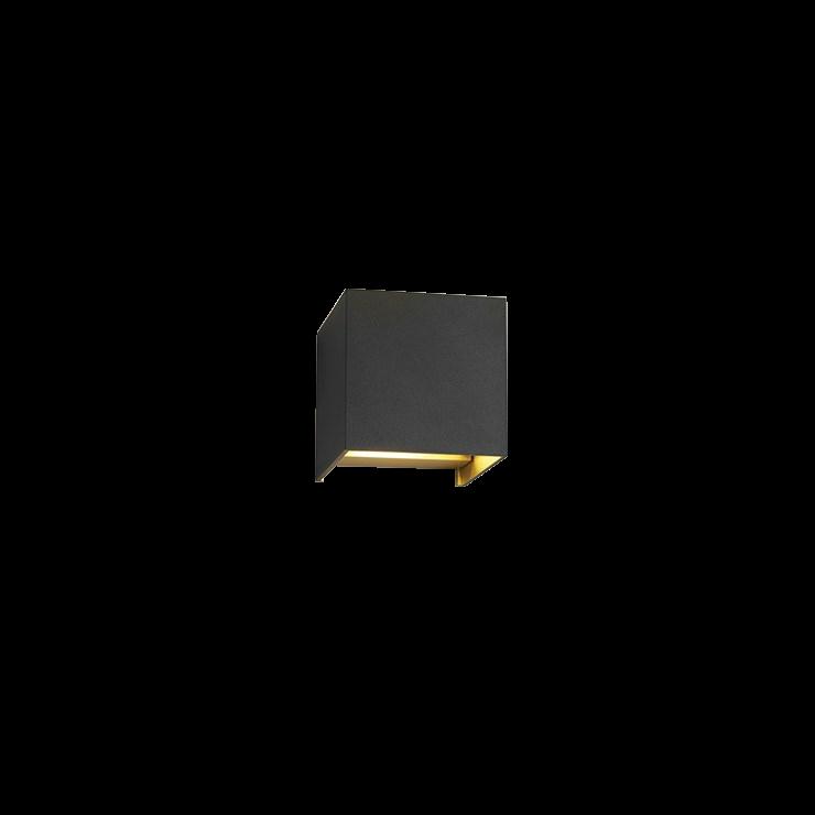 Box Mini Up/Down LED 3000K Væglampe Sort/Guld – LIGHT-POINT