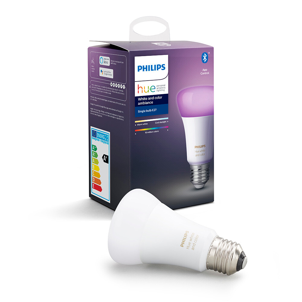 Philips Hue White & Color 9W Bluetooth E27 Pære - Philips Hue thumbnail