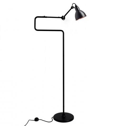 Image of 411 Gulvlampe Sort/Sort/Kobber - Lampe Gras (6188929)