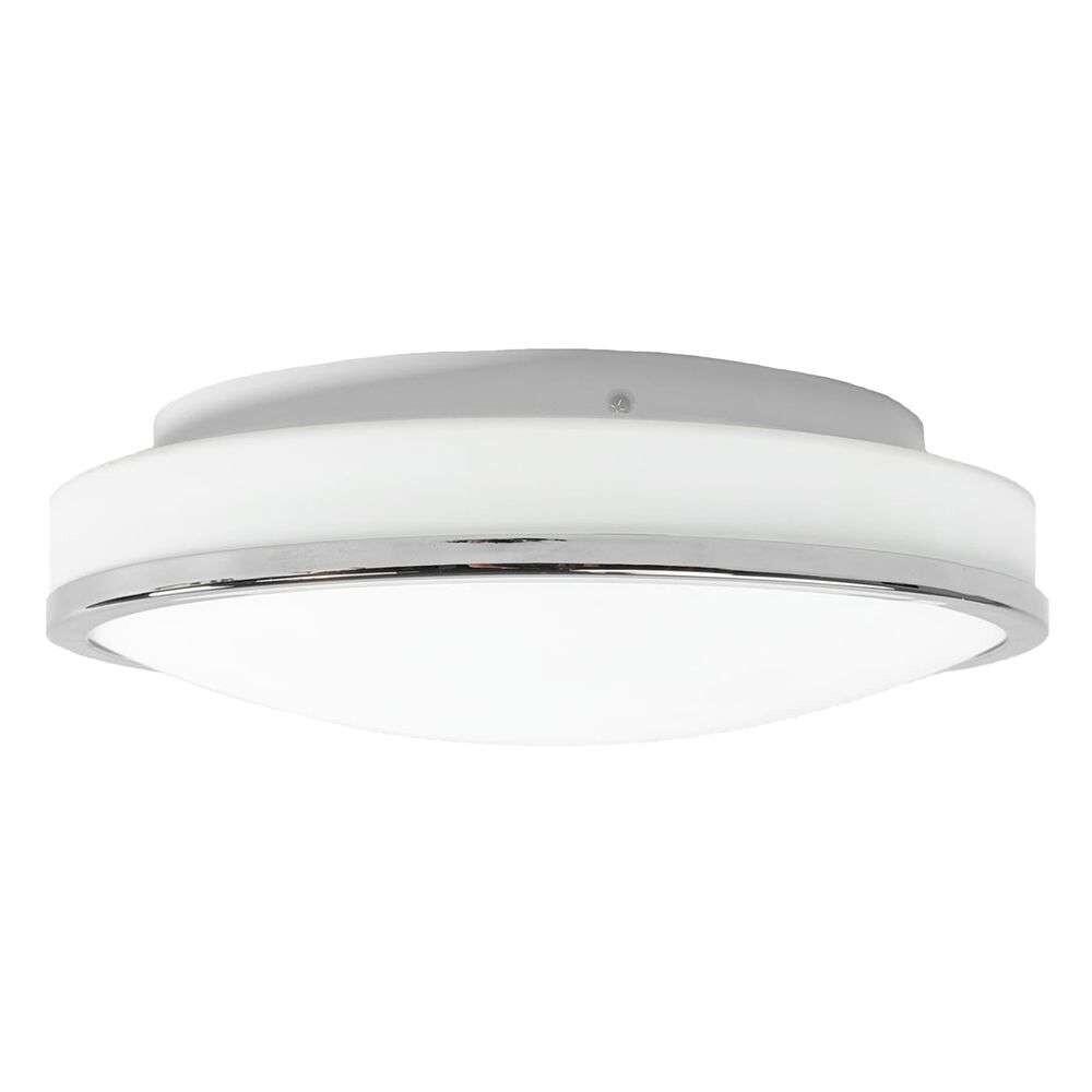 Lyss Round LED Loftlampe IP44 Ø34 Chrome – Lindby
