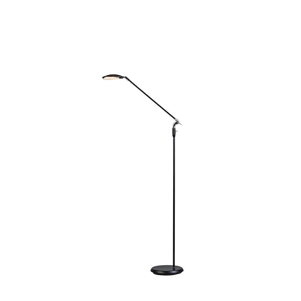 Spectra Gulvlampe Mat Sort LED – Belid