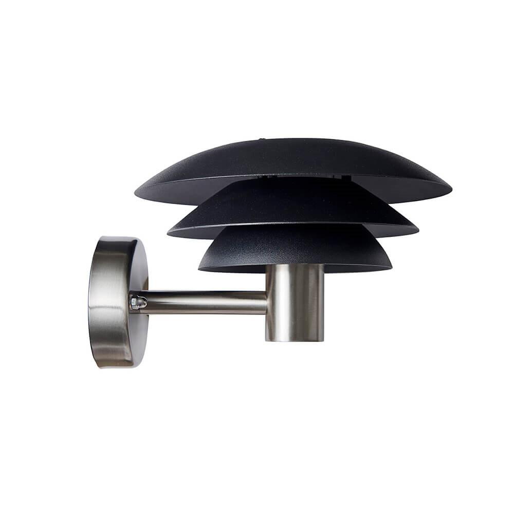 DL20 Udendørs Væglampe Black/Steel - DybergLarsen