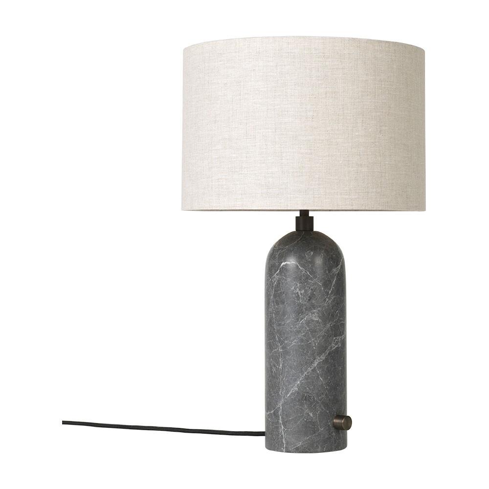 Billede af Gravity Bordlampe Large Grå Marmor/Canvas - GUBI