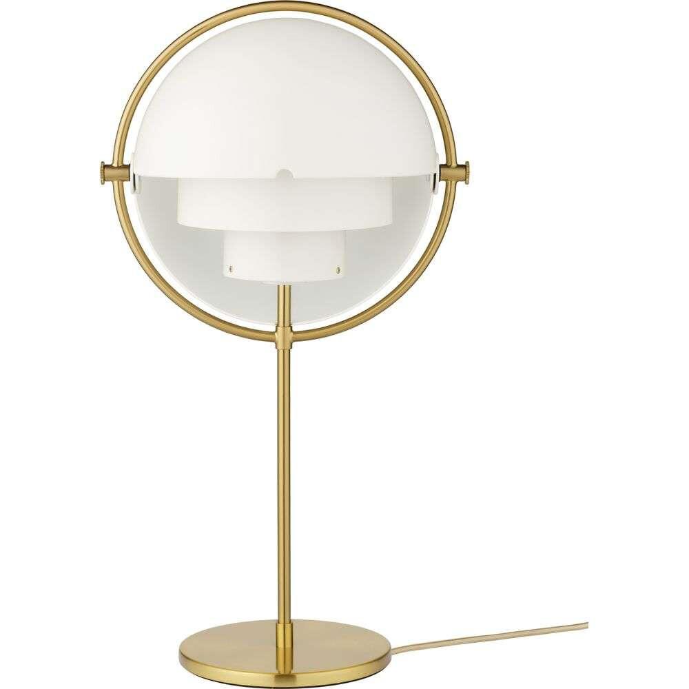 Multi-Lite Bordlampe Brass/White - GUBI thumbnail