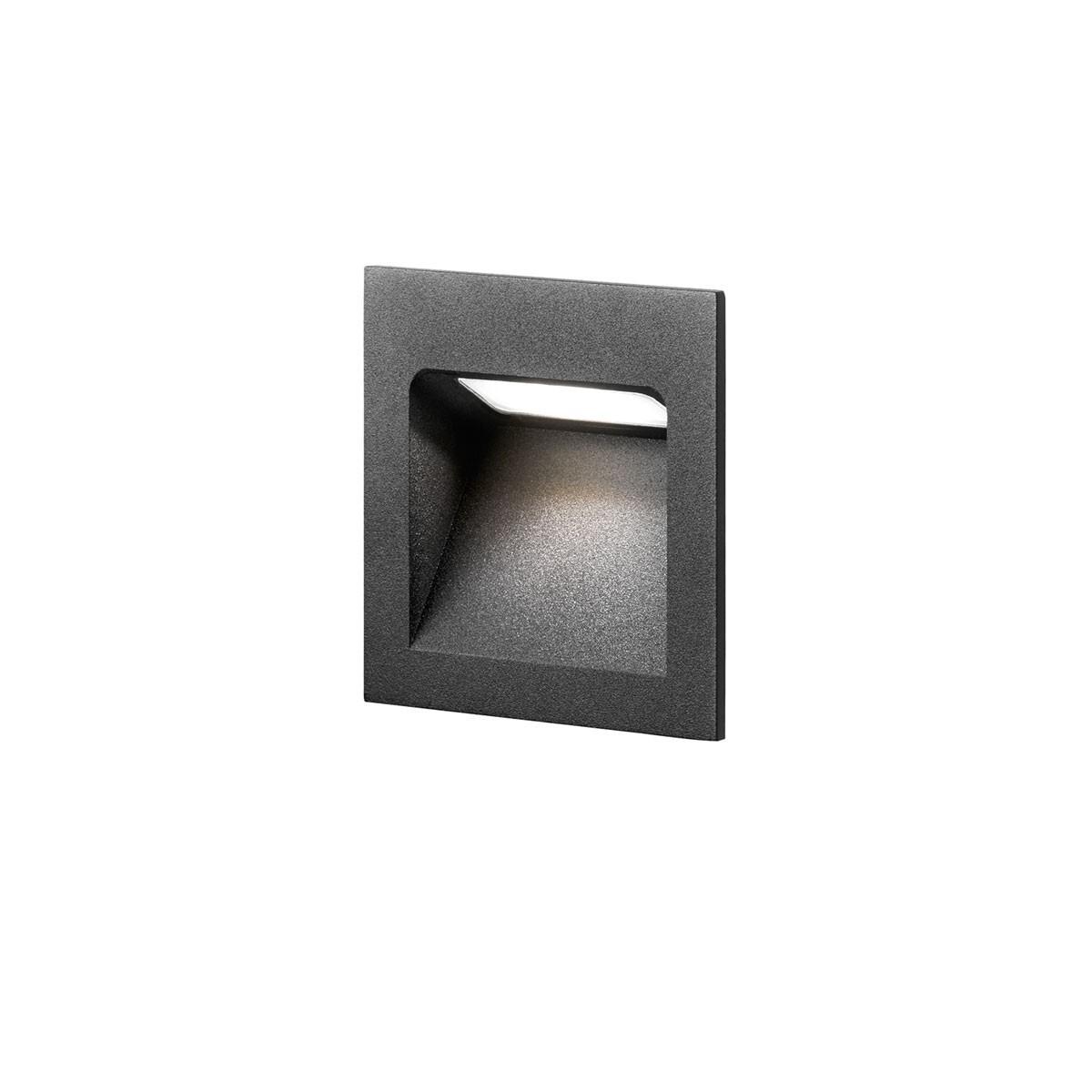 Deli 1 LED 3000K Væglampe Sort – LIGHT-POINT