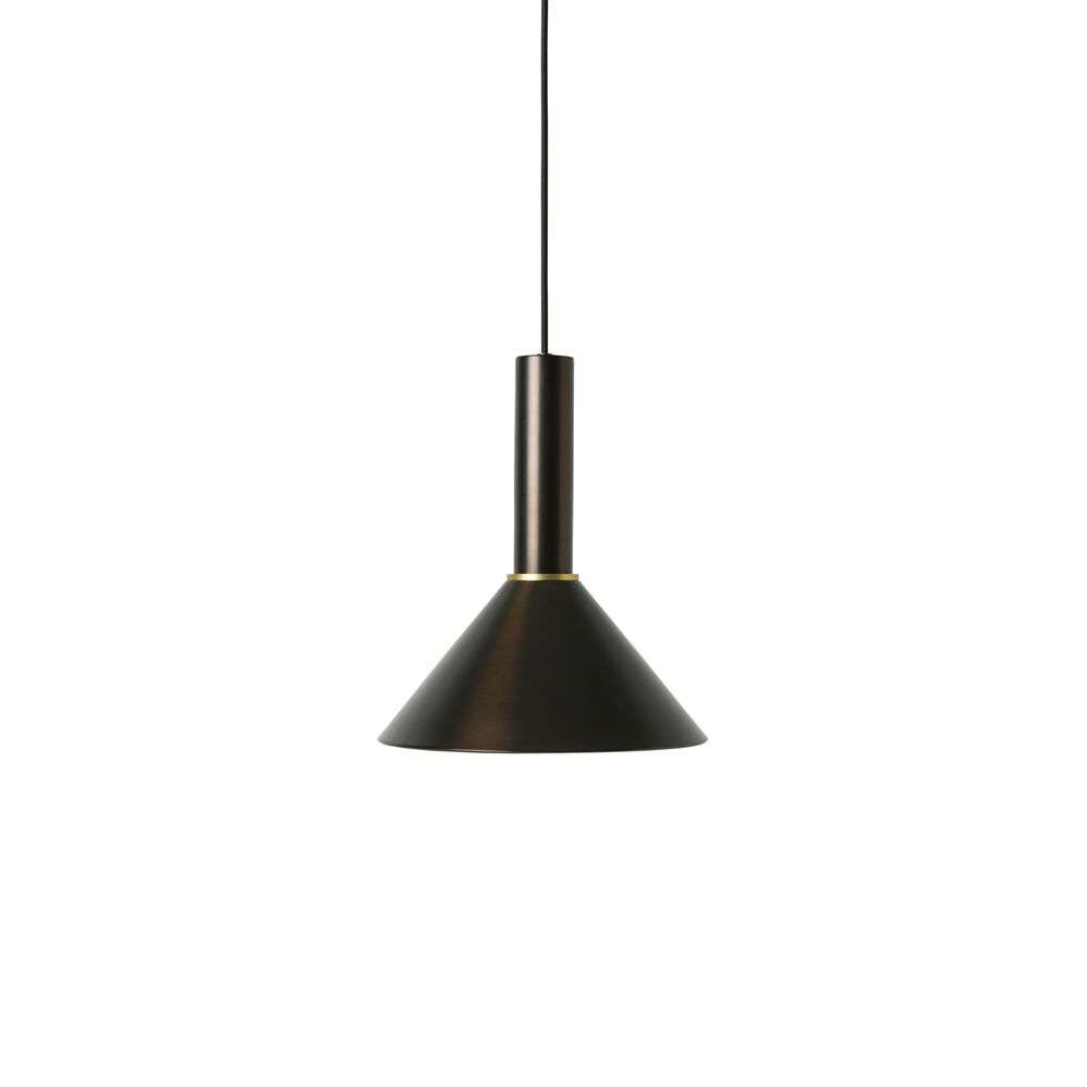 Image of Collect Pendel Cone High Black Brass - Ferm Living (15998562)