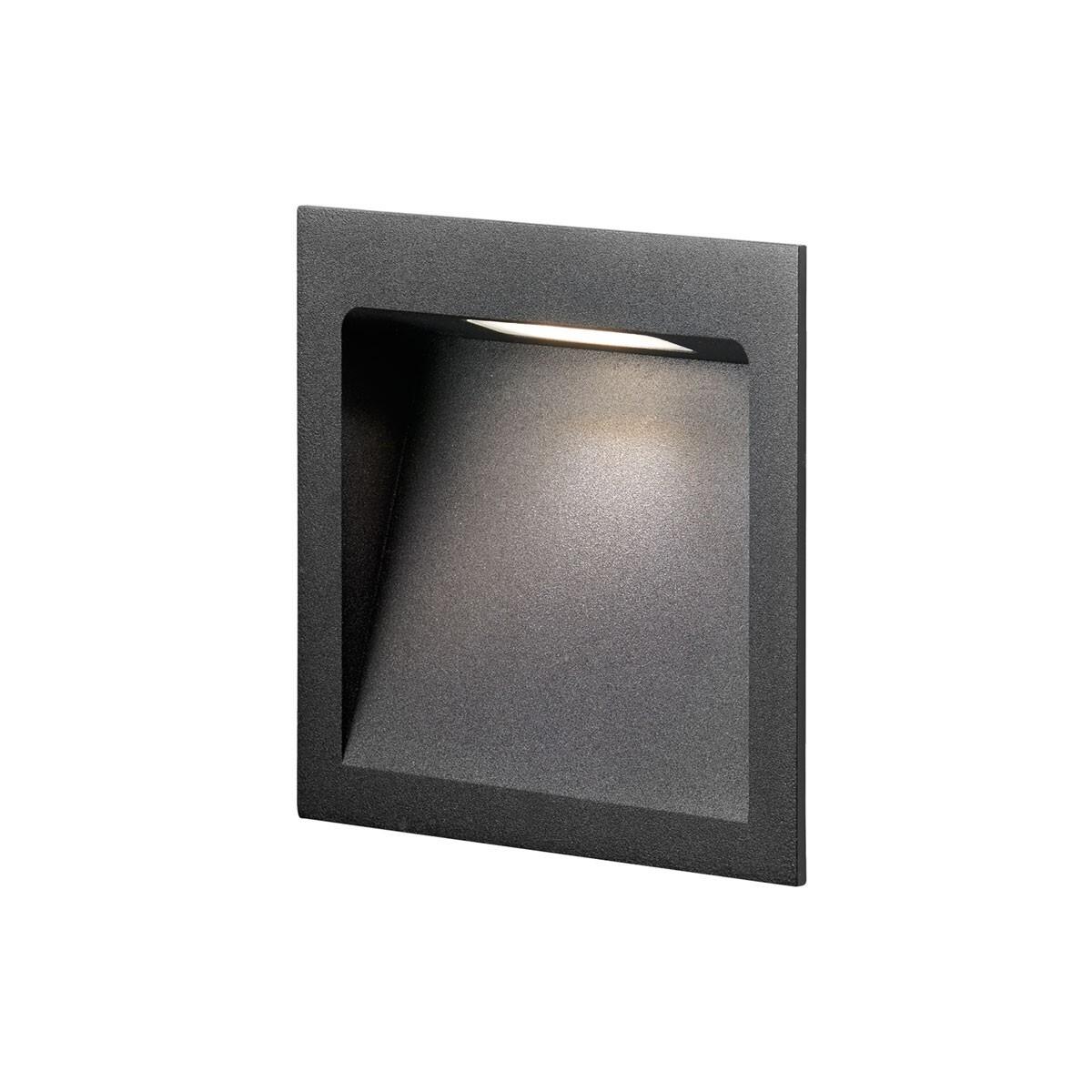 Deli 2 LED 3000K Væglampe Sort – LIGHT-POINT