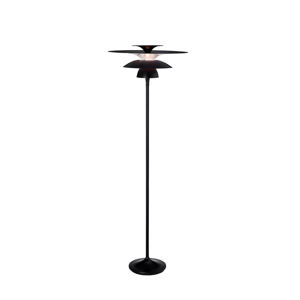 Picasso Gulvlampe Ø500 Mat Sort LED – Belid