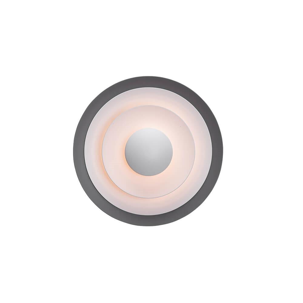 Diablo Væglampe LED Grå/Blank Sort Ø300mm – Belid