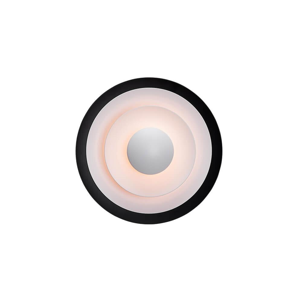Diablo Væglampe LED Mat Sort/Blank Rød Ø300mm – Belid