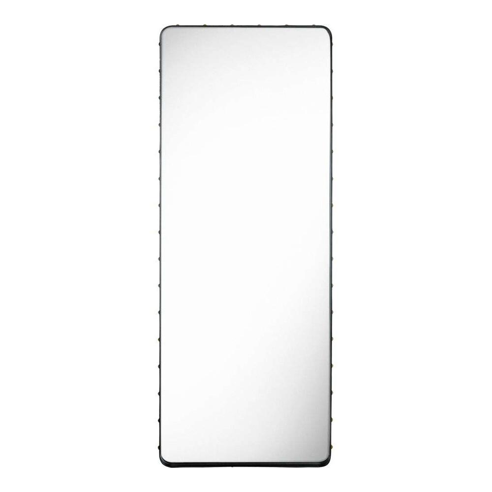 Image of Adnet Wall Mirror Rectangular 70X180 Black Leather - GUBI (15839976)