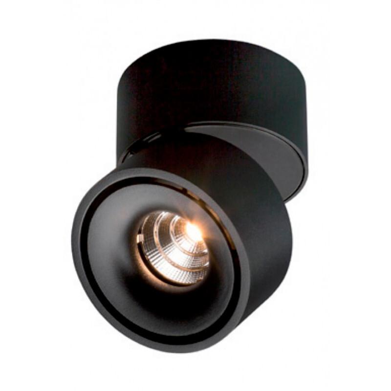 Easy W100 LED Påbygningsspot 10W Sort – ANTIDARK