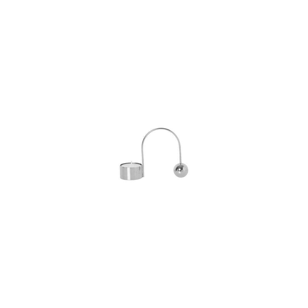 Image of Balance Tealight Holder Chrome - Ferm Living (16085584)