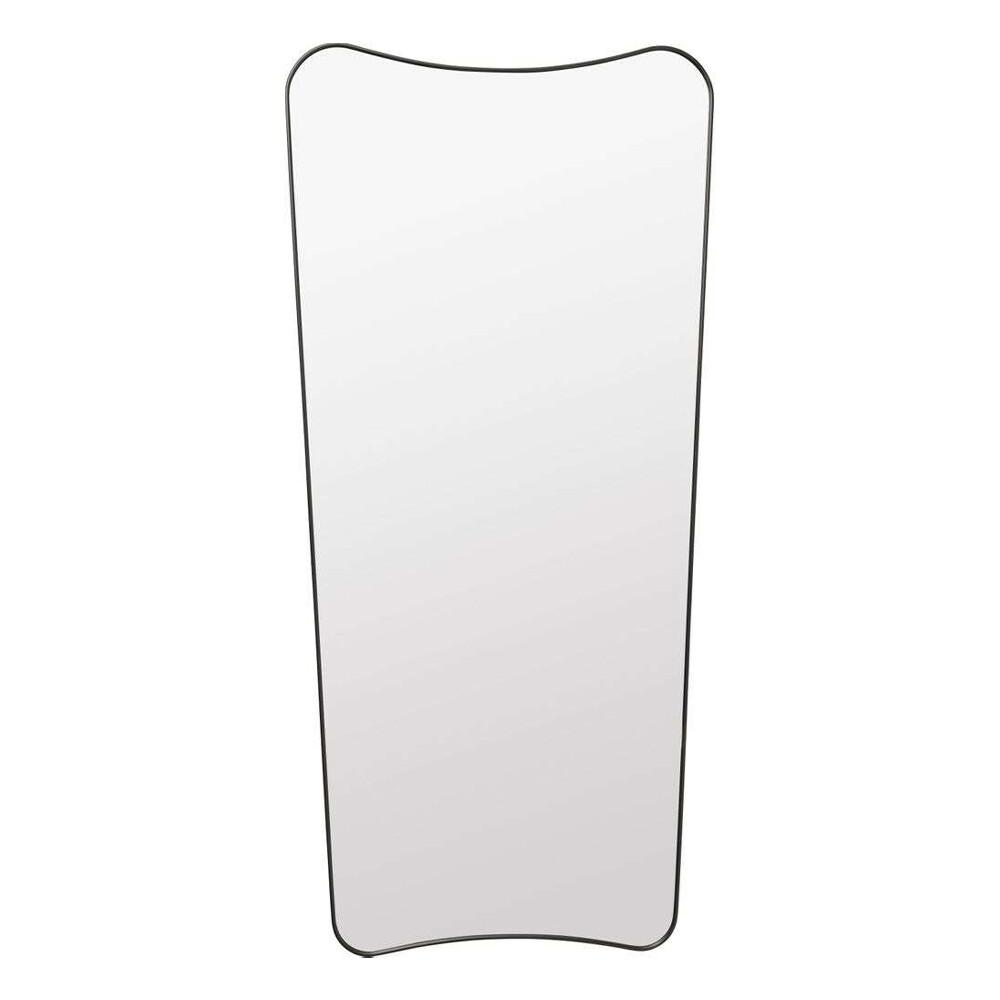 Image of F.A. 33 Gio Ponti Wall Mirror 70X146 Black Brass - GUBI (15839980)