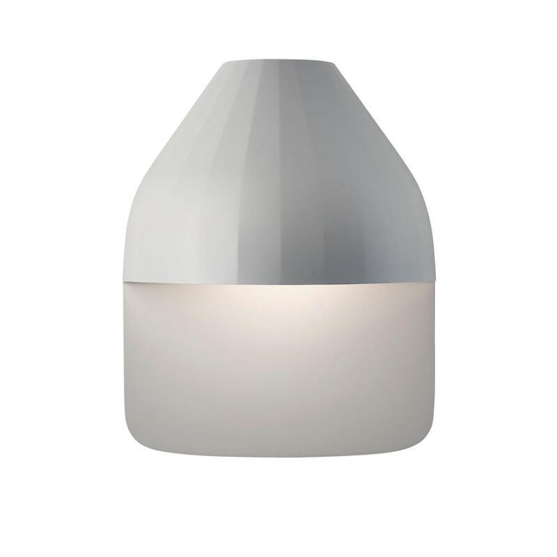 Facet Udendørs Væglampe m/Medium Baseplade Lys Grå - Le Klint thumbnail