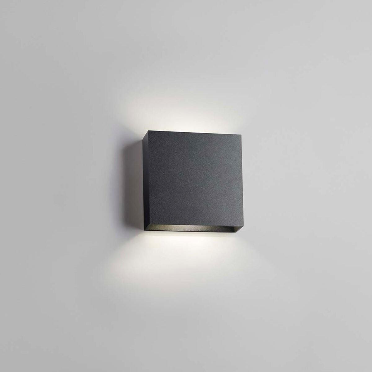 Compact W1 LED 3000K Væglampe Up/Down Sort – LIGHT-POINT