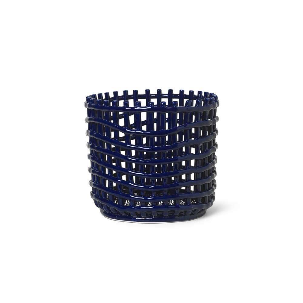 Ceramic Basket Large Blue - Ferm Living thumbnail