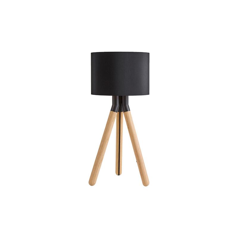 Image of Paso Wood 25 T1 Bordlampe Eg/Sort/Sort - Darø (9085275)