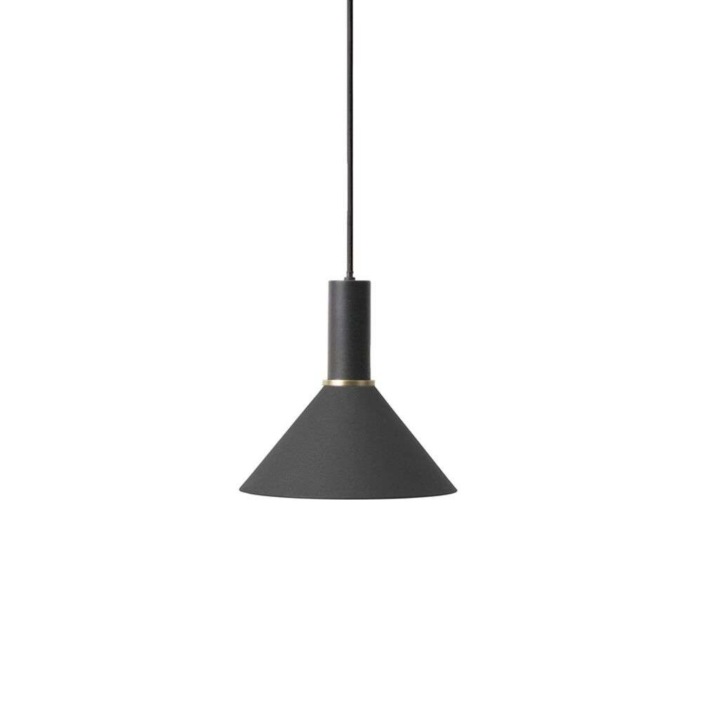 Image of Collect Pendel Cone Low Black - Ferm Living (15998621)