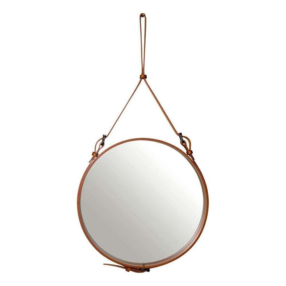 Image of Adnet Wall Mirror Circular Ø58 Tan Leather - GUBI (15840026)