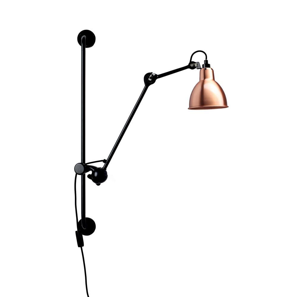 210 Væglampe Sort/Kobber/Hvid - Lampe Gras thumbnail