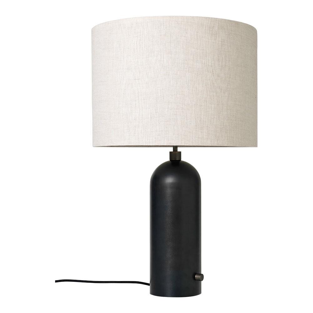 Image of Gravity Bordlampe Large Sort Stål/Canvas - GUBI (11158365)