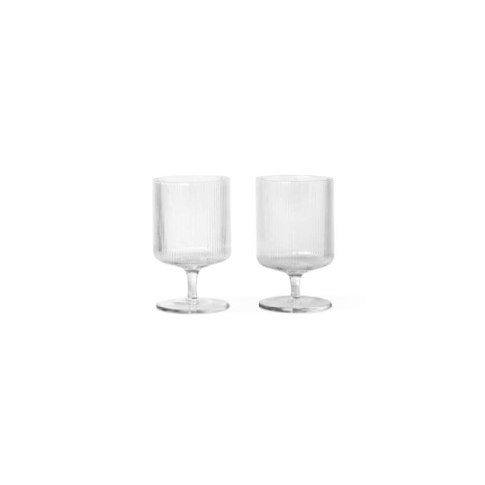 Ripple Wine Glasses Set of 2 Clear - Ferm Living thumbnail