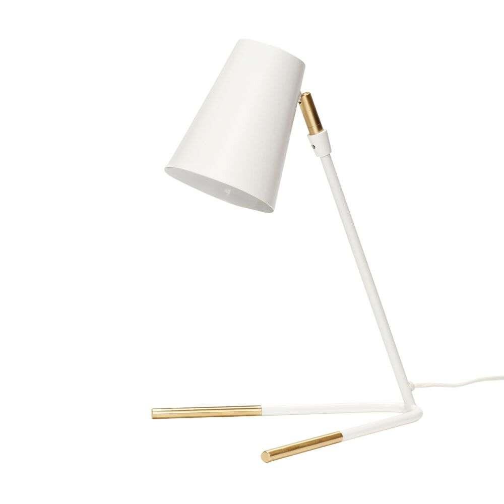 Image of Bordlampe White/Brass - Hübsch (15980339)