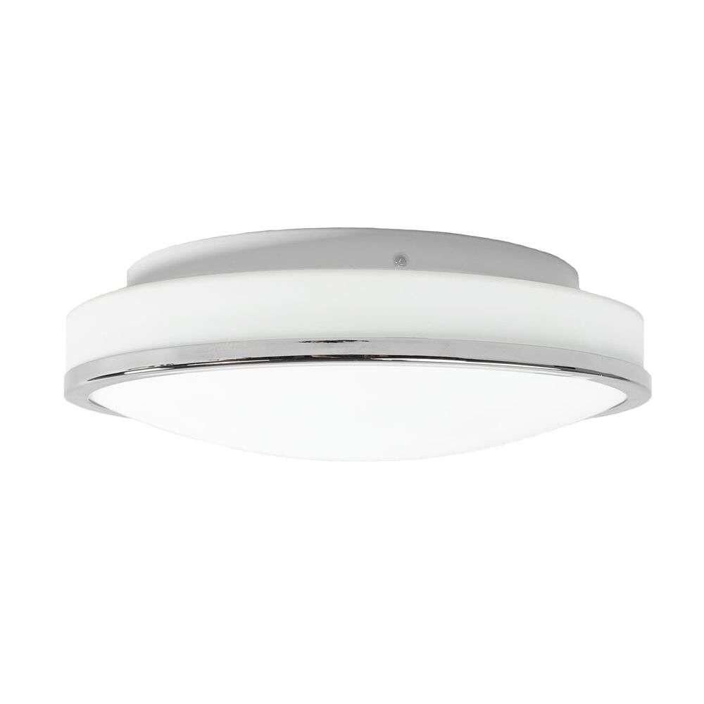 Lyss Round LED Loftlampe IP44 Ø28 Chrome – Lindby