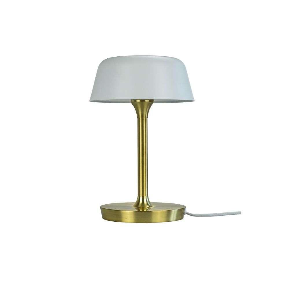 Valencia LED Bordlampe 230V Matt White/Brass – DybergLarsen