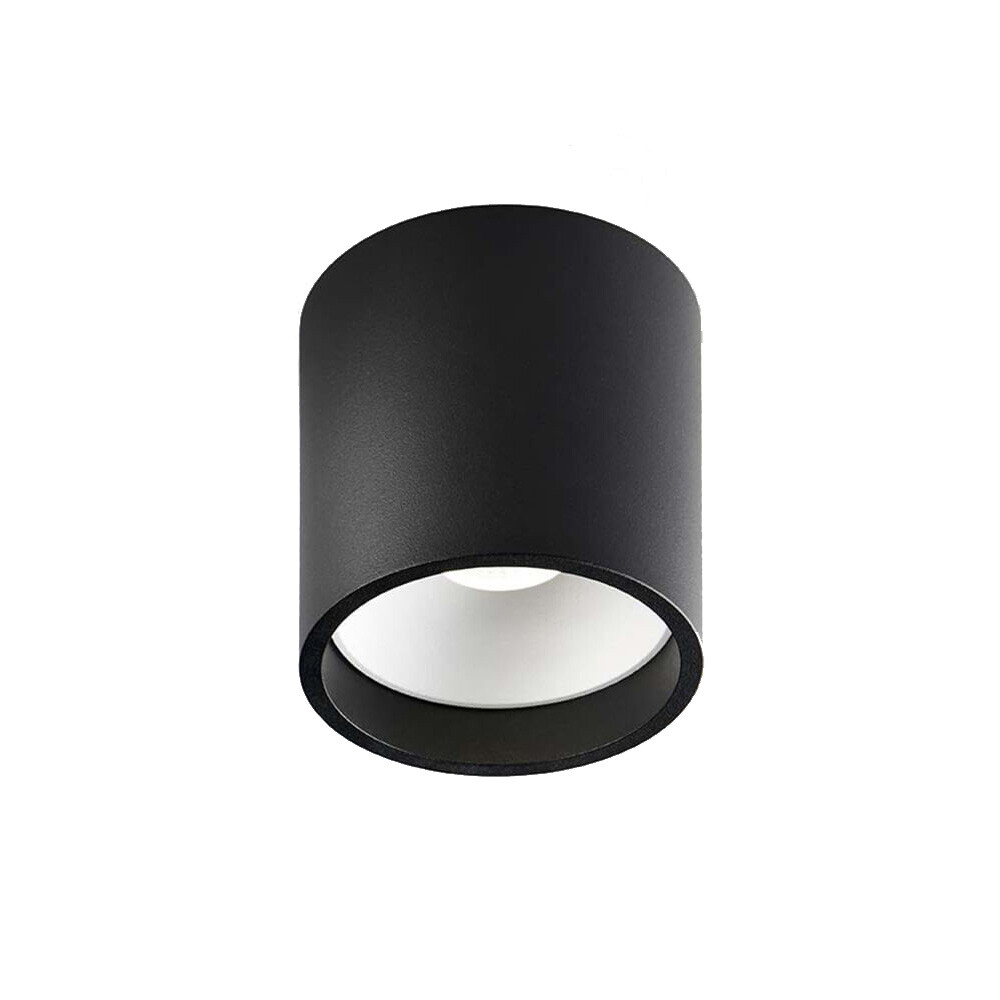 Solo 2 Round LED Loftlampe 3000K Sort/Hvid – LIGHT-POINT
