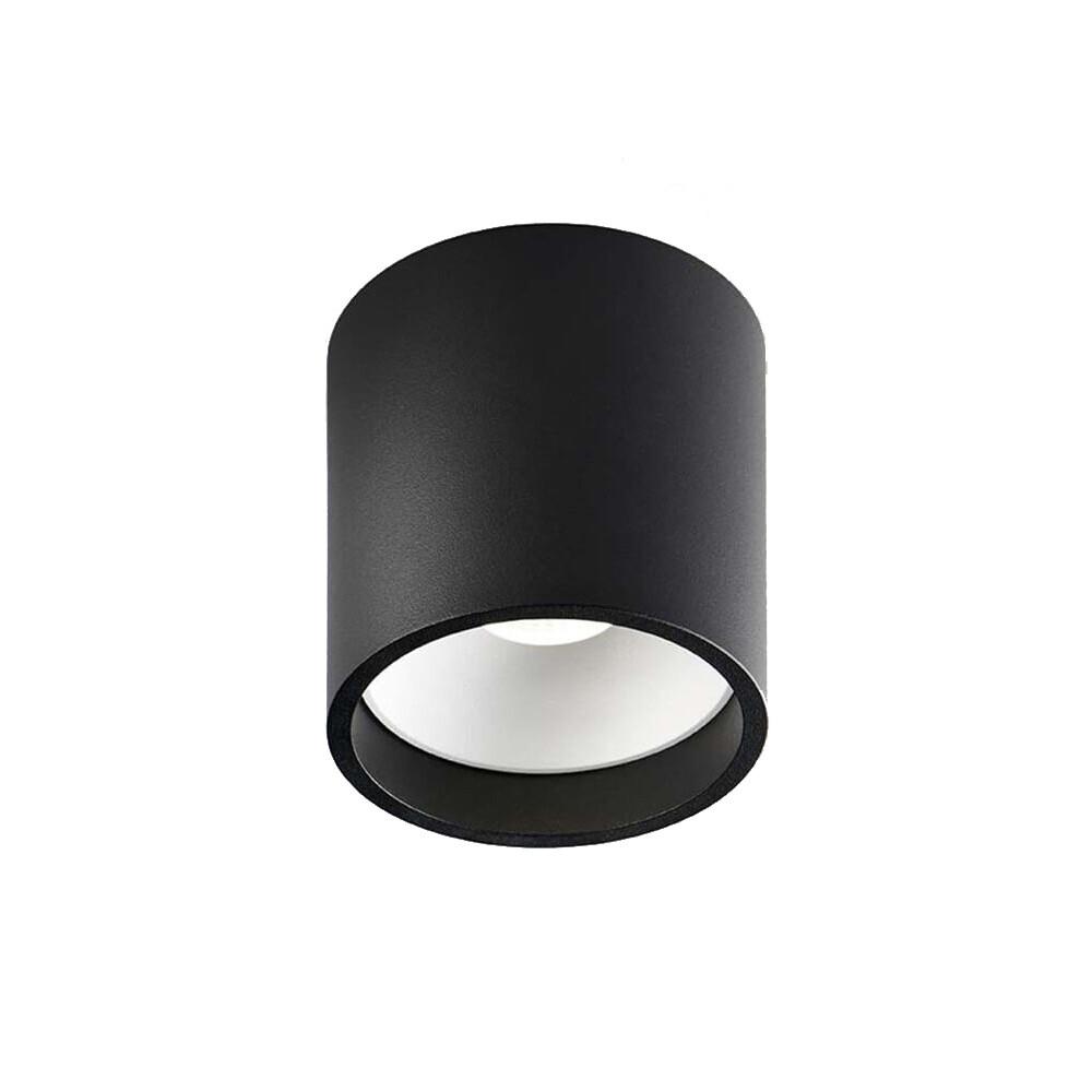 Solo 2 Round LED Loftlampe 2700K Sort/Hvid – LIGHT-POINT
