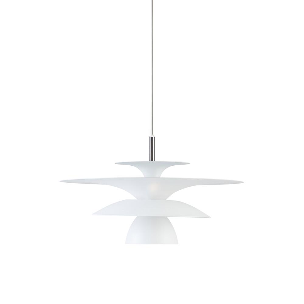 Picasso Pendel Mat Hvid Ø380 LED – Belid
