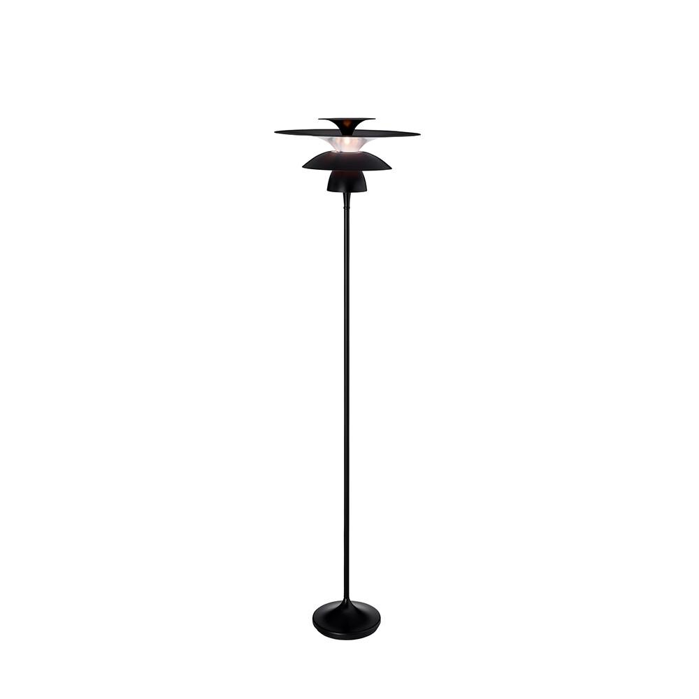 Picasso Gulvlampe Mat Sort Ø380 LED – Belid